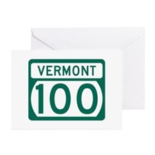 Route 100, Vermont Greeting Cards (Pk of 10)