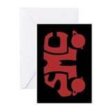 Red SMC Van Logo Greeting Cards (Pk of 10)