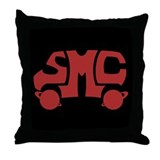 Red SMC Van Logo Throw Pillow