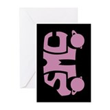 Pink SMC Van Logo Greeting Cards (Pk of 10)