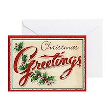 Vintage Decorative Christmas Cards (Pk of 10)