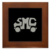 Grey SMC Van Logo Framed Tile
