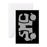 Grey SMC Van Logo Greeting Cards (Pk of 10)