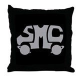 Grey SMC Van Logo Throw Pillow