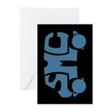 Blue SMC Van Logo Greeting Cards (Pk of 10)