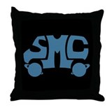 Blue SMC Van Logo Throw Pillow