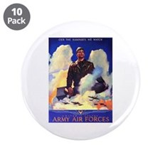 "Ramparts We Watch Air Force 3.5"" Button (10 pack)"