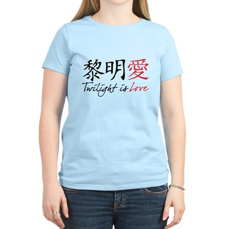 Twilight Is Love Kanji Women's Light T-Shirt