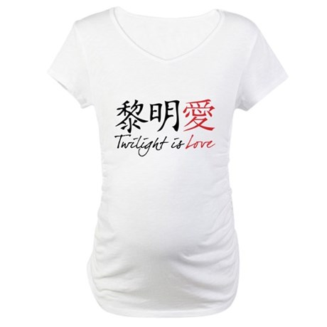Twilight Is Love Kanji Maternity T-Shirt