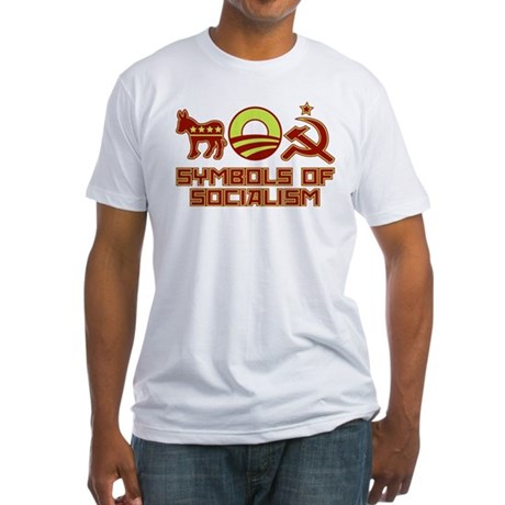 Symbols of Socialism Fitted T-Shirt