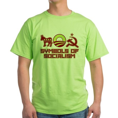 Symbols of Socialism Green T-Shirt