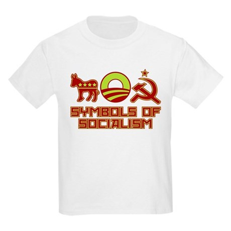 Symbols of Socialism Kids Light T-Shirt