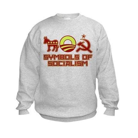 Symbols of Socialism Kids Sweatshirt