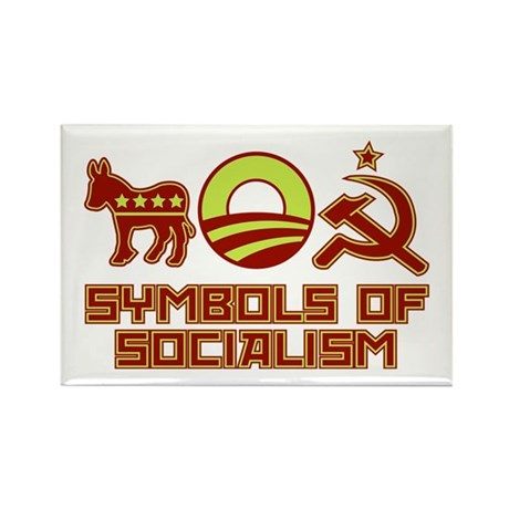 Symbols of Socialism Rectangle Magnet
