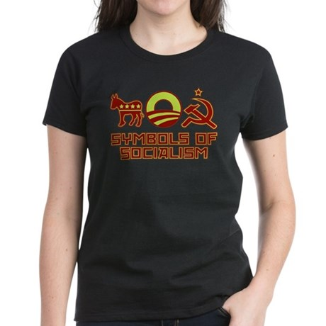 Symbols of Socialism Women's Dark T-Shirt