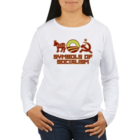 Symbols of Socialism Women's Long Sleeve T-Shirt