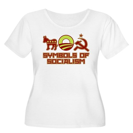 Symbols of Socialism Women's Plus Size Scoop Neck