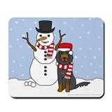 Gordon Setter Winter Mousepad
