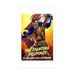 Fighting Filipinos Military Soldier Sticker (Recta