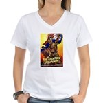 Fighting Filipinos Military Soldier Women's V-Neck