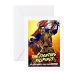 Fighting Filipinos Military Soldier Greeting Cards