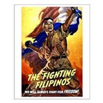 Fighting Filipinos Military Soldier Small Poster