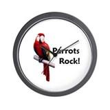 Parrots Rock! Wall Clock
