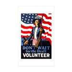 Don't Wait to Volunteer Rectangle Sticker 10 pk)