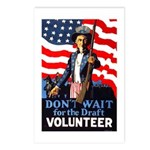 Don't Wait to Volunteer Postcards (Package of 8)