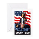 Don't Wait to Volunteer Greeting Card