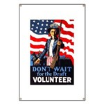 Don't Wait to Volunteer Banner