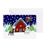 Cute Chocolate Lab Christmas Greeting Cards (Pk of