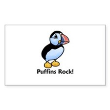 Puffins Rock! Rectangle Decal
