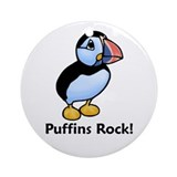Puffins Rock! Ornament (Round)