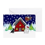 Cute Black Lab Christmas Greeting Cards (Pk of 10)