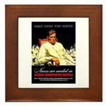 VA Veterans Administration Nurses Framed Tile