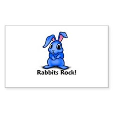Rabbits Rock! Rectangle Decal
