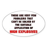 High Explosive Solution Oval Decal