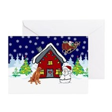 Cute Irish Setter Christmas Greeting Cards (Pk of