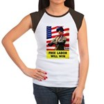 Free Labor Will Win (Front) Women's Cap Sleeve T-S