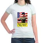 Free Labor Will Win Jr. Ringer T-Shirt