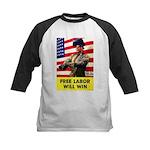 Free Labor Will Win Kids Baseball Jersey