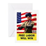 Free Labor Will Win Greeting Cards (Pk of 20)