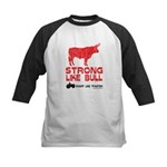 Strong Like Bull! Kids Baseball Jersey