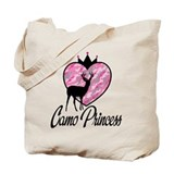 Camo Princess Tote Bag