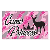 Camo Princess Rectangle Decal