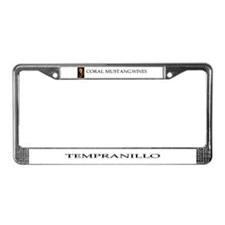 Coral Mustang License Plate Frame