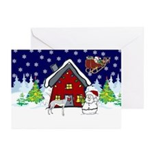 Cute Greyhound Christmas Greeting Cards (Pk of 10)