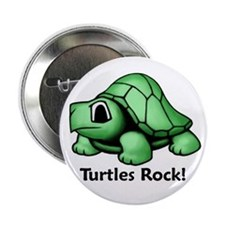 "Turtles Rock! 2.25"" Button (100 pack)"