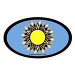 Geometric Sun on blue